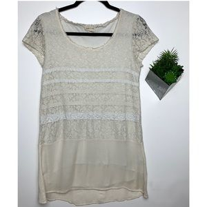 Anthropologie Meadow Rue Lace Blouse Size Small